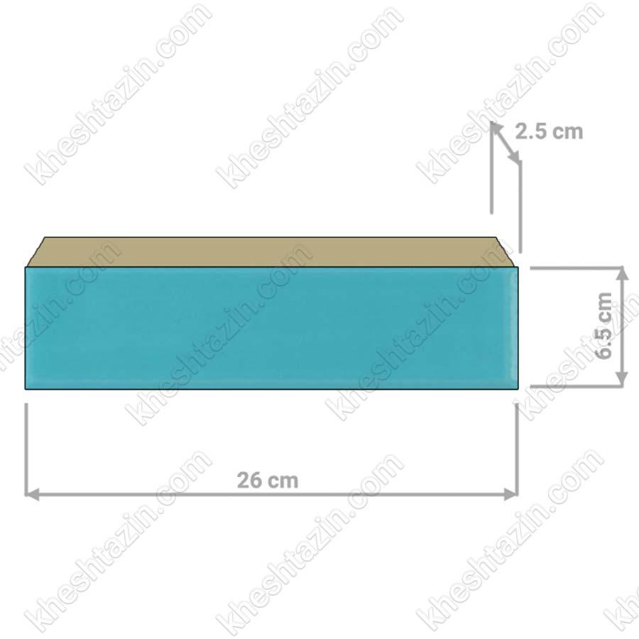 آجر لعابی پلاک  6.5  سانتیمتری
