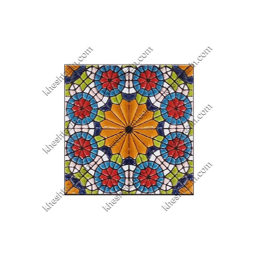 کاشی هفت رنگ طرح هندسی  کد: GP-300