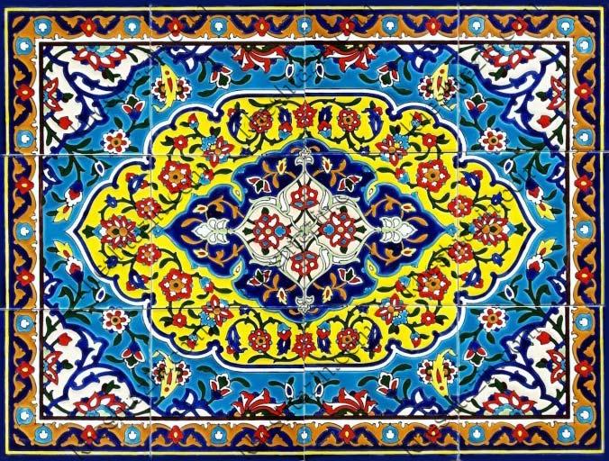سرامیک هفت رنگ طرح قالیچه کد: CF-7